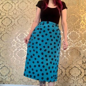 VTG 1980's Polka Dot Pencil Skirt